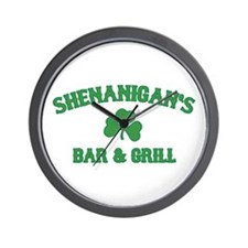 shenanigan's bar & grill Wall Clock