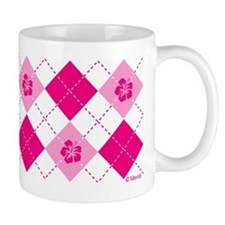 Flower Argyle in Pink Mug