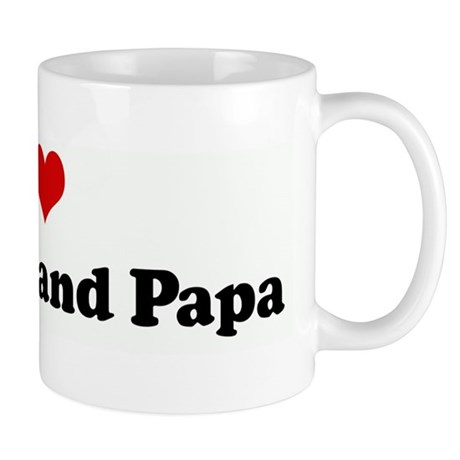 I Love My Nana and Papa Mug