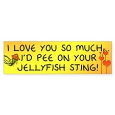 Pee on Your Jellyfish Sting Bumper Sticker (50 pk)