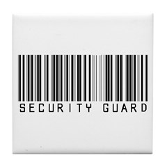 Security Guard Barcode Tile Coaster