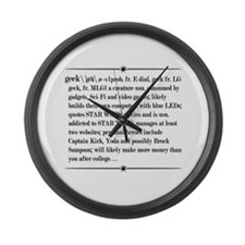 Geek, A Definition on Whilte Large Wall Clock