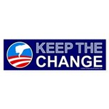 Keep the Change, anti Obama Bumper Sticker (10 pk)