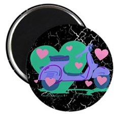 Scooter Hearts Magnet