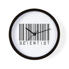 Scientist Barcode Wall Clock