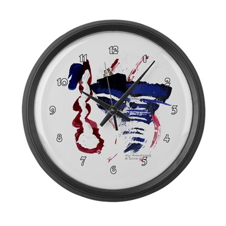 The River Large Wall Clock