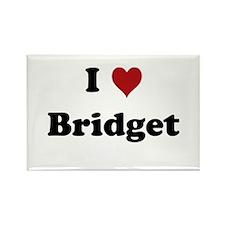 I love Bridget Rectangle Magnet (10 pack)