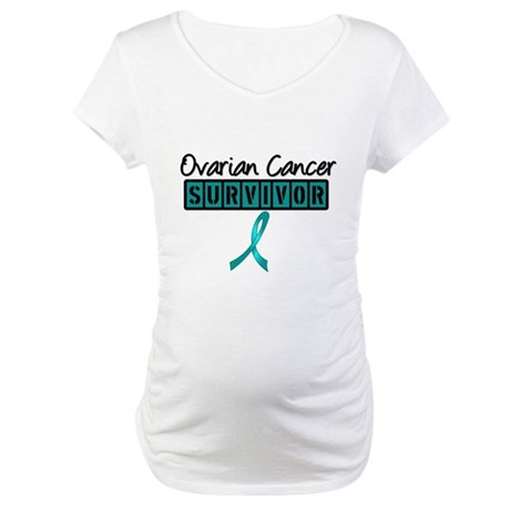 Ovarian Cancer Survivor Maternity T-Shirt