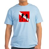 Divers on Flag  T-Shirt