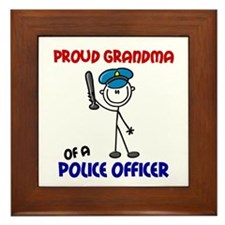 Proud Grandma 1 (Police Officer) Framed Tile