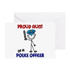 Proud Aunt 1 (Police Officer) Greeting Card