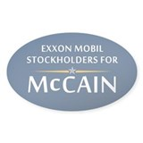 Exxon Mobile McCain Oval Sticker (10 pk)