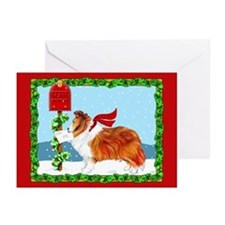 Sable Sheltie Mail Greeting Cards (Pk of 10)