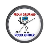 Proud Girlfriend 1 (Police Officer) Wall Clock