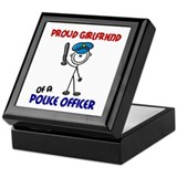 Proud Girlfriend 1 (Police Officer) Keepsake Box