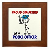 Proud Girlfriend 1 (Police Officer) Framed Tile