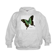 Green Butterfly (Front) Hoodie