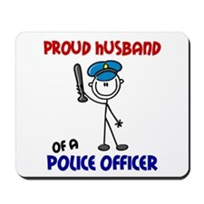 Proud Husband 1 (Police Officer) Mousepad