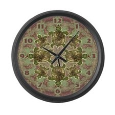 Garden Turtles Large Wall Clock