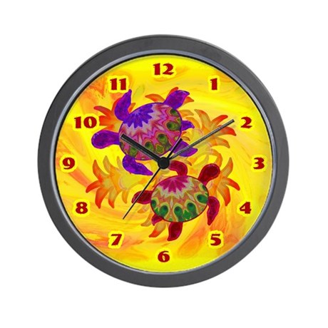 Flaming Turtles Wall Clock