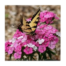 Butterfly Garden Tile Coaster
