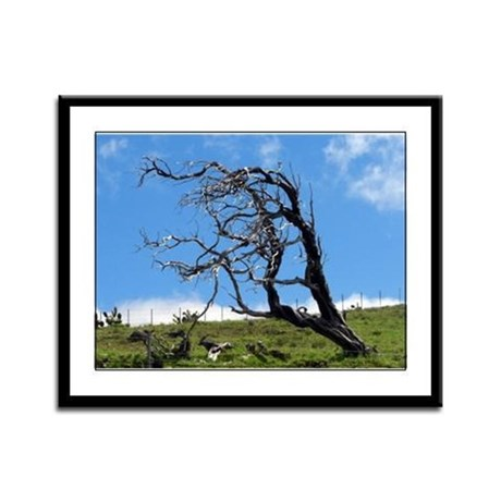 Windblown Tree Framed Panel Print