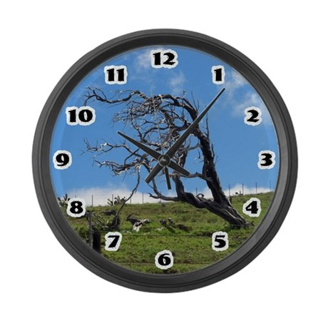 Windblown Tree Large Wall Clock