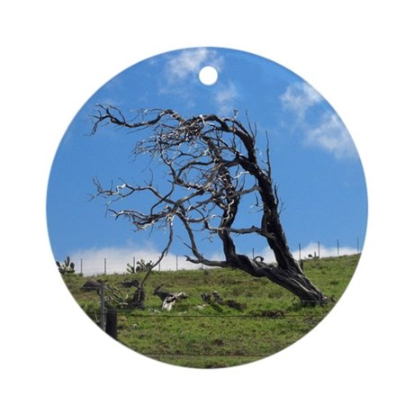 Windblown Tree Ornament (Round)