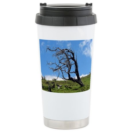 Windblown Tree Ceramic Travel Mug