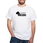 Black Cane Corso White T-Shirt