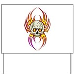 Flaming Skull Yard Sign