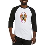 Flaming Skull Baseball Jersey