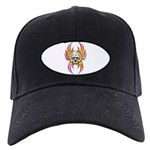 Flaming Skull Black Cap