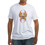 Flaming Skull Fitted T-Shirt