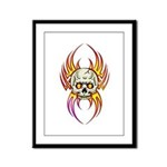 Flaming Skull Framed Panel Print