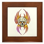 Flaming Skull Framed Tile