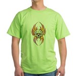 Flaming Skull Green T-Shirt