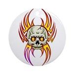 Flaming Skull Ornament (Round)