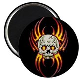 "Flaming Skull 2.25"" Magnet (10 pack)"