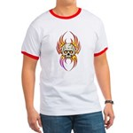 Flaming Skull Ringer T