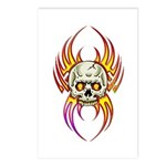 Flaming Skull Postcards (Package of 8)