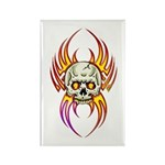 Flaming Skull Rectangle Magnet