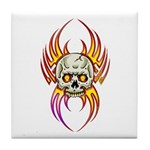 Flaming Skull Tile Coaster