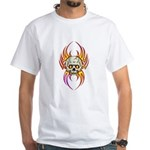 Flaming Skull White T-Shirt