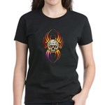 Flaming Skull Women's Dark T-Shirt