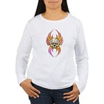 Flaming Skull Women's Long Sleeve T-Shirt
