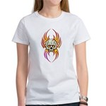 Flaming Skull Women's T-Shirt