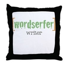 Wordserfer Writer Throw Pillow
