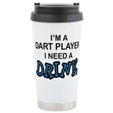 Dart Player Need a Drink Travel Mug