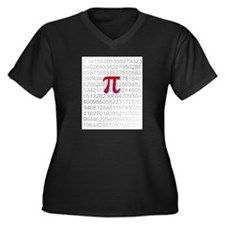 Delicious Pi Women's Plus Size V-Neck Dark T-Shirt